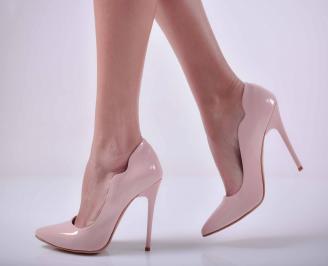 Дамски елегантни обувки лак пудра  YLIL-1015066