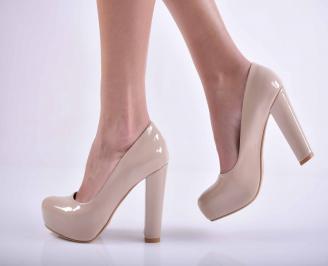 Дамски елегантни обувки бeжови  HMJW-1015125