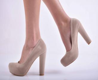 Дамски елегантни обувки бежови  ASAU-1015126