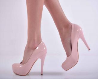 Дамски елегантни обувки  лак пудра  SMSH-1015155