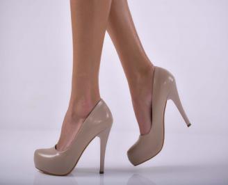 Дамски елегантни обувки бежови  KYCV-1015176