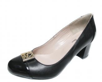 Дамски елегантни обувки естествена кожа черни ITRP-20080