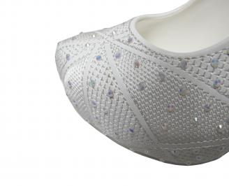 Дамски  елегантни обувки на ток еко кожа бели CZYW-20258