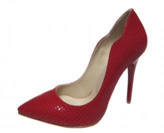 Дамски елегантни обувки еко кожа червени YCSG-20806
