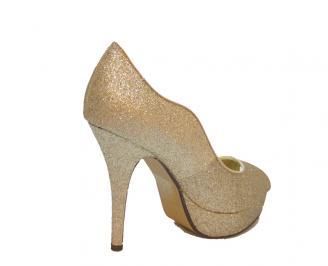 Дамски елегантни обувки еко кожа златисти NINO-11093