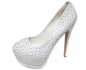 Дамски елегантни обувки еко кожа бели VGTD-20976