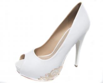 Дамски елегантни обувки еко кожа бели EMKL-20980
