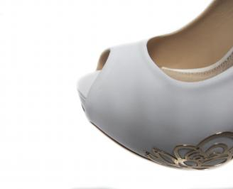 Дамски елегантни обувки еко кожа бели 4