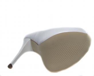 Дамски елегантни обувки еко кожа бели 5