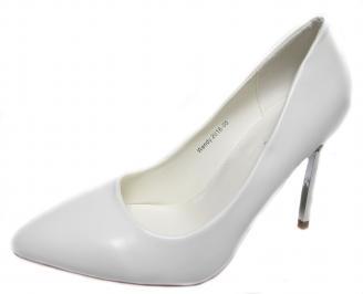 Дамски елегантни обувки еко кожа бели JGXK-20986