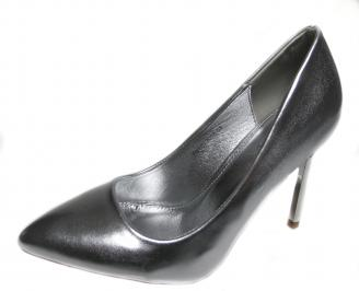 Дамски елегантни обувки еко кожа сребристи TSFA-20987