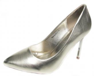 Дамски елегантни обувки еко кожа златисти UPWY-20988
