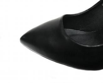 Дамски елегантни обувки еко кожа черни TLQG-20989