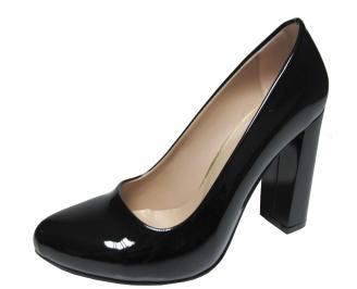 Дамски елегантни обувки еко кожа/лак черни TTTQ-21149