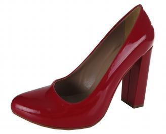 Дамски елегантни обувки еко кожа/лак червени KHDQ-21150