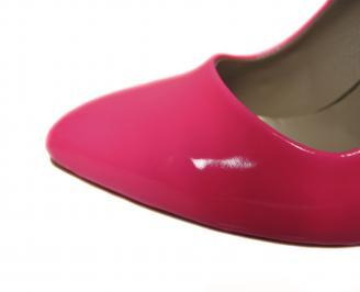 Дамски елегантни обувки еко кожа/лак розови AQJM-21157