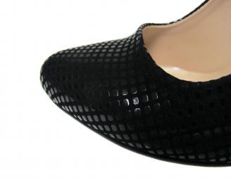 Дамски елегантни обувки еко кожа черни JEBF-21160