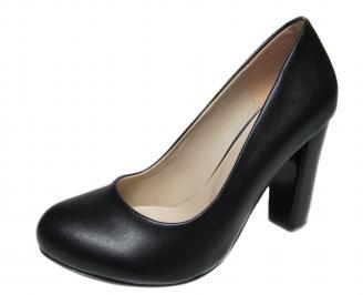 Дамски елегантни обувки еко кожа черни IEDO-21182