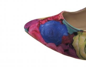 Дамски елегантни обувки сатен на цветя YTIK-21212