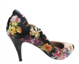 Дамски елегантни обувки еко кожа на цветя RPPF-21222