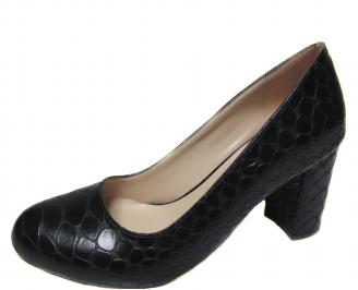 Дамски елегантни обувки  еко кожа черни GXAK-21278