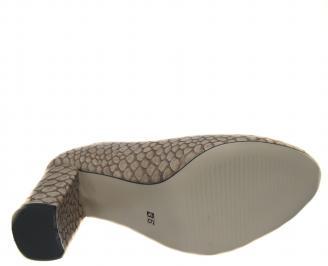 Дамски елегантни обувки еко кожа бежови WATS-21279