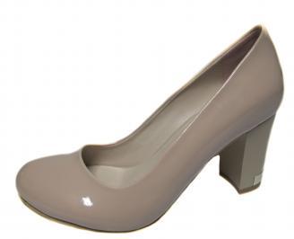 Дамски елегантни обувки еко кожа/лак  бежови GUVL-21280
