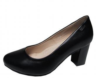 Дамски елегантни обувки еко кожа черни AWZB-21322