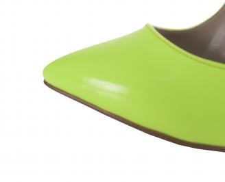 Дамски елегантни обувки еко кожа /лак зелен електрик BQFM-21353