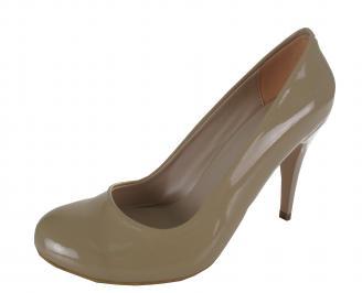 Дамски елегантни обувки еко кожа/лак бежови RWZL-21383