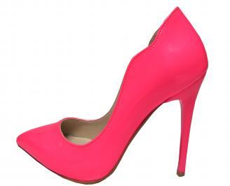 Дамски елегантни обувки еко кожа/лак  розови DWWY-21390