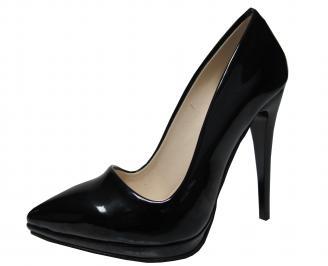 Дамски елегантни обувки еко кожа/лак черни TAAN-21400