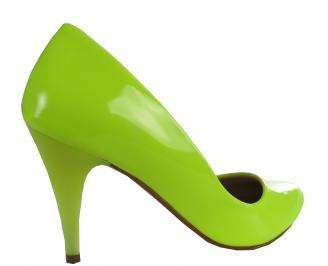 Дамски елегантни обувки еко кожа/лак зелени VBFI-21409