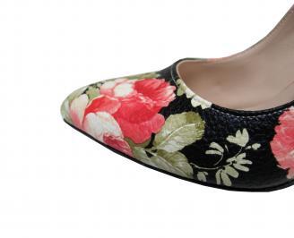 Дамски елегантни обувки еко кожа на цветя FZZK-21411