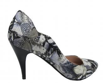 Дамски елегантни обувки еко кожа на цветя ZVJD-21415