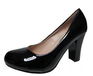 Дамски елегантни обувки еко кожа/лак черни XLCY-21486