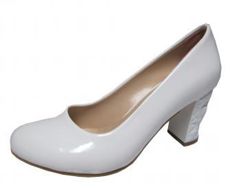 Дамски елегантни обувки еко кожа/лак бели GZXW-21830