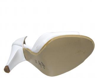 Дамски елегантни обувки еко кожа/лак бели MYOQ-21831