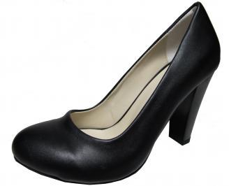 Дамски елегантни обувки еко кожа черни WPBK-21834