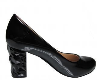 Дамски елегантни обувки еко кожа/лак черни HZRF-21841