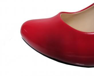 Дамски елегантни обувки еко кожа/лак червени JZYU-21868