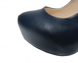 Дамски елегантни обувки еко кожа тъмно синьо ZELD-21888