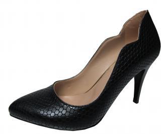 Дамски елегантни обувки еко кожа черни JRZM-22275