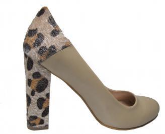 Дамски елегантни обувки еко кожа бежови IVWK-22334