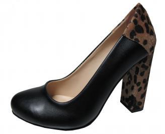 Дамски елегантни обувки еко кожа черни UBVT-22336