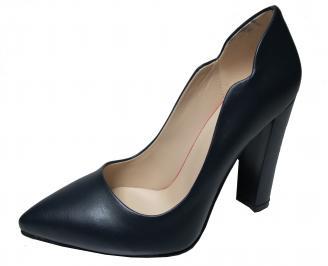 Дамски елегантни обувки еко кожа тъмно сини ZKGC-22340