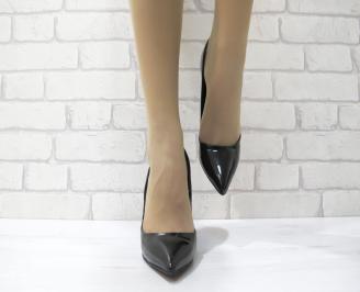 Дамски елегантни обувки еко кожа/лак черни DJSC-22901