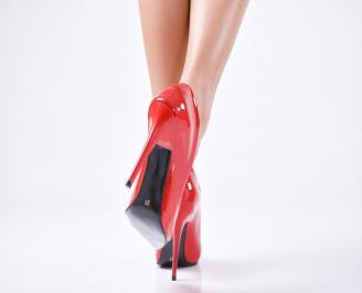 Дамски елегантни обувки еко кожа/лак червени XFMC-22988