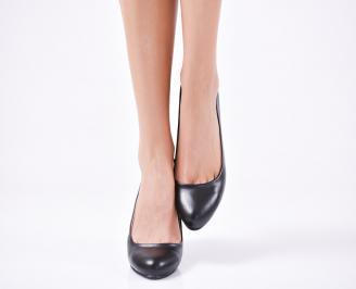 Дамски елегантни обувки еко кожа черни ZJCF-22991