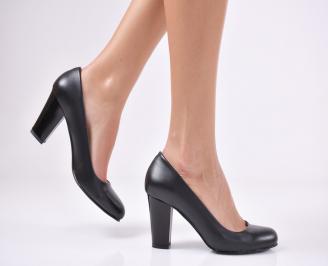 Дамски елегантни обувки еко кожа черни TQMJ-22996